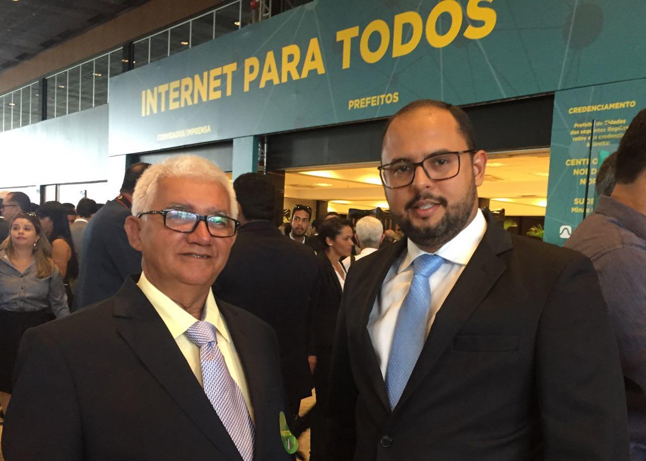 Prefeito Valdemir e Presidente da Câmara Pedro Henrique, em Brasília.